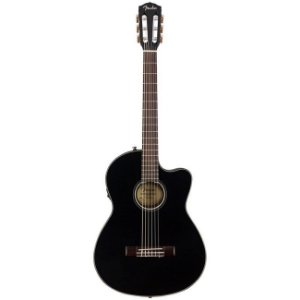 Violão Eletroacústico Fender Nylon CN 140 SCE Black C/ Case