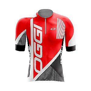 Camisa Ciclismo - Oggi Vermelha