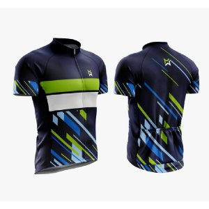 Camisa de Ciclismo MTB Azul/Verde