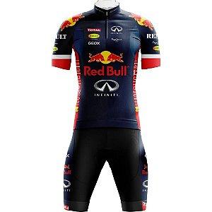 Conjunto Red Bull- Camiseta + Bermuda com forro em Gel