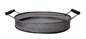 Bandeja Oval em Ferro Zinco G