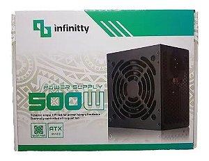 Fonte de alimentação ATX - 500W Power Supply INFINITY