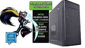 Computador Celeron J1800 + 4GB DDR3 + SSD 240GB