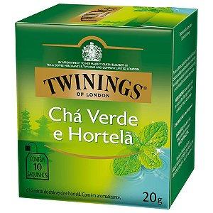 Chá Verde e Hortelã Twinings - 17,5g / 10 sachês