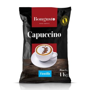Capuccino Solúvel Vanilla 1kg - Bongusto