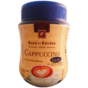 Cappuccino Solúvel Light Café Do Centro - Pote 140g