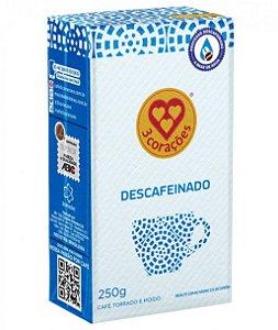 Café Três Corações Descafeinado a Vácuo - Torrado e Moído 250g