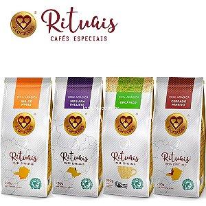 KIT PROMOÇÃO Café Três Corações Rituais Moído - 4 pacotes de 250g
