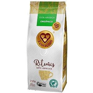 Café Três Corações Rituais Orgânico em Grãos 250g