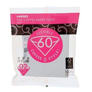 Filtro Hario V60 Tamanho 02 Branco – 100 unidades