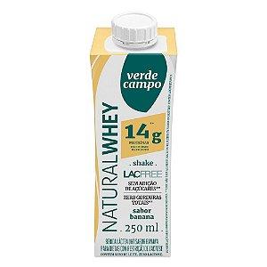 Shake Natural Whey Verde Campo - Banana (14g de proteína) 250ml