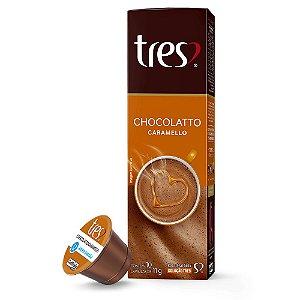 Cápsula Três Corações - Chocolate Caramello - 10 Unidades