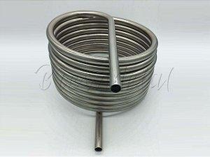 Serpentina para Herms - Tubo 1/2 c/ 6 metros em inox 304