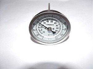 Termômetro Bimetálico em inox para panela cervejeira rosca 1/2