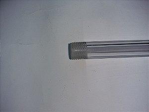 Tubo de policarbonato transparente para nível 48cm