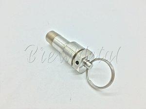 Válvula de segurança regulável em inox 304 rosca 1/4 NPT