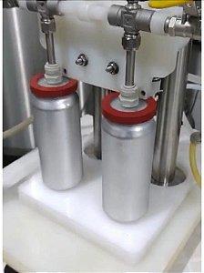 Acessório para enchimento de latas nas envasadoras Brewmetal