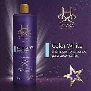 SHAMPOO TONALIZANTE PELOS BRANCOS E CLAROS COLOR WHITE 500ML
