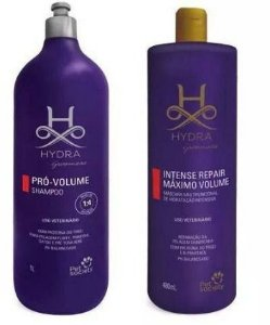 KIT HYDRA VOLUME (1 SHAMPOO VOLUME 1LITRO E 1 MÁSCARA INTENSE REPAIR VOLUME 480ML)
