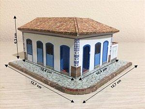 Casa Esquina Colonial Esc. 1:87, - Maquete Já Montada - Nova Ho