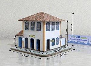 Solar Café Esc. 1:87,  Maquete De Papel - Montado 3d - Nova Ho