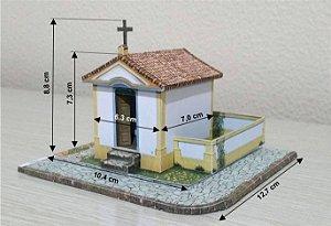 Igrejinha Capela Esc. 1:87 -  Maquete Escala - Ho, Papel Já Montada