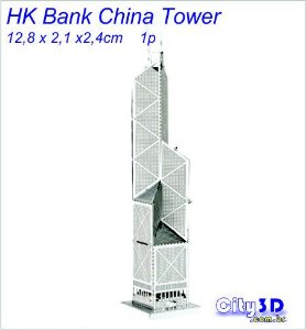 Hk Bank China Tower Miniatura para montar
