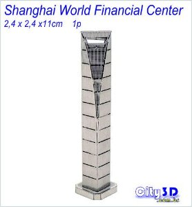 Shanghai World Financial Tower Miniatura para montar