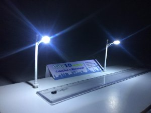 10 Postes Branco  Led 3volts