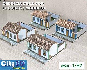 Maquete Casinha Esc. 1:87- ho, - Ferromodelismo - Papel 240 g