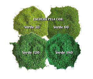 Serragem Verde Fina P/ Grama de Maquete e Diorama 1/43 A 1/500