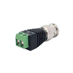 Conector bnc plug  macho com borne para instalação de câmeras de segurança