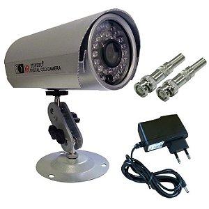 Câmeras de segurança infravermelho perfeita para ambientes interno externo acompanha fonte e bnc de brinde