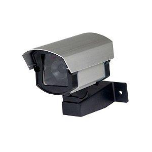 Câmera segurança falsa com led bivolt em aluminio semelhante original