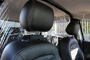 Divisória Higiênica Salivar Anti-espirro Para Carro - Prático E Seguro + Brinde Suporte de Alcool Gel M1