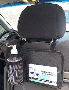 Porta Álcool Gel Para Veiculos Com Cartões Informativos - Modelo RET - Bag Lev