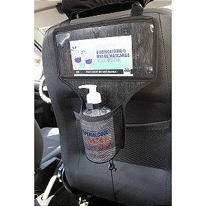Porta Álcool Gel Para Veiculos Com Cartões Informativos - Modelo RAQ - Bag Lev