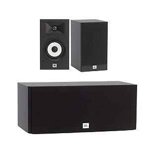Kit de Caixas Acústicas 3.0 JBL Para Home Theater - 1 Stage A125C Central + 2 Stage A130 Bookshelf