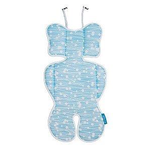 Almofada para Bebê Conforto e Carrinho Azul