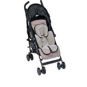 Almofada para Bebê Conforto e Carrinho cinza com preto Clingo