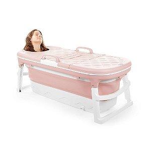 Banheira Extra Grande Rosa Baby Pil