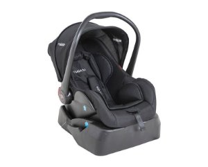 Bebê conforto Casulo Preto Kiddo com Base para o Carro