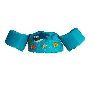 Boia de vestir Infantil Tubarão Azul