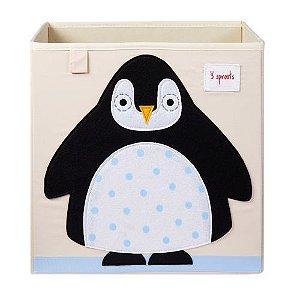 Cesto Organizador Quadrado 3 Sprouts Pinguim