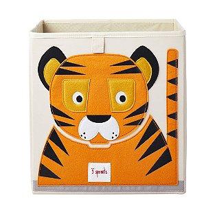 Cesto Organizador Quadrado 3 Sprouts Tigre