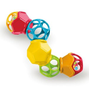 Chocalho Clicky Twister Easy Grasp Rattle Oball
