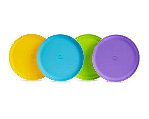 Conjunto de Pratos Coloridos Munchkin