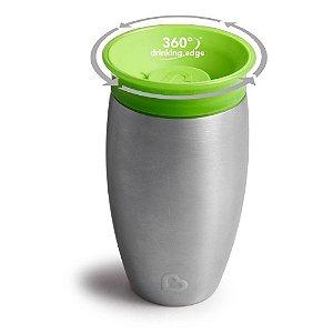 Copo Térmico 360° Munchkin - 296ml (Inox) Verde