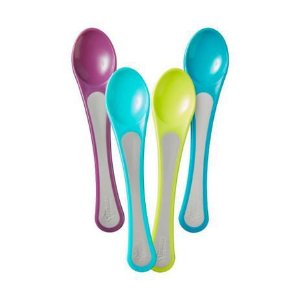 Kit com 4 colheres largas Wide Scoops Tommee Tippee