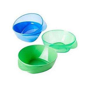 Kit com 4 pratos fundos Easy Scoop Azul